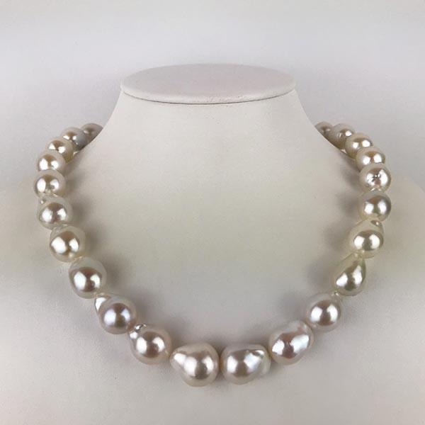 Collana Oro Bianco e Perle