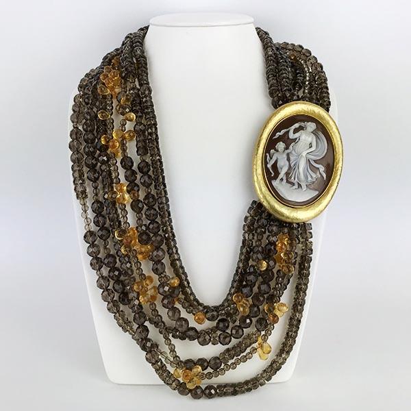 Collana Oro Giallo e Quarzo Unico