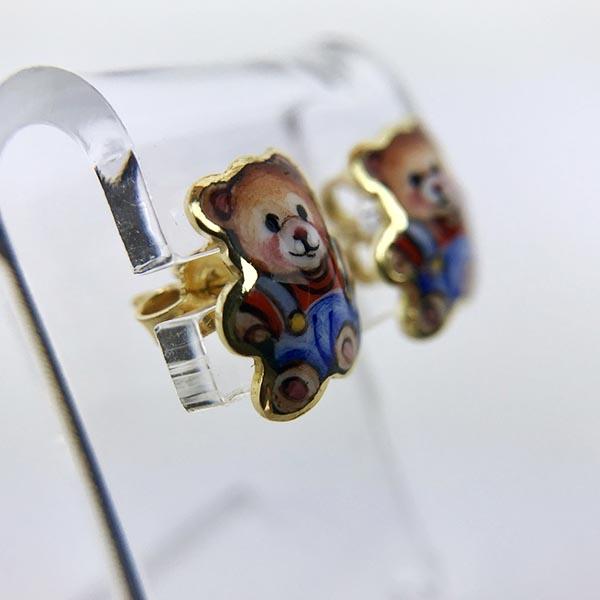 Orecchini Gabriella Rivalta Oro Giallo Miniato Orso