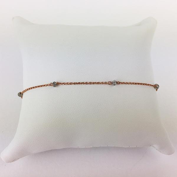 Bracciale Oro Rosa e Diamanti Ghiaccio