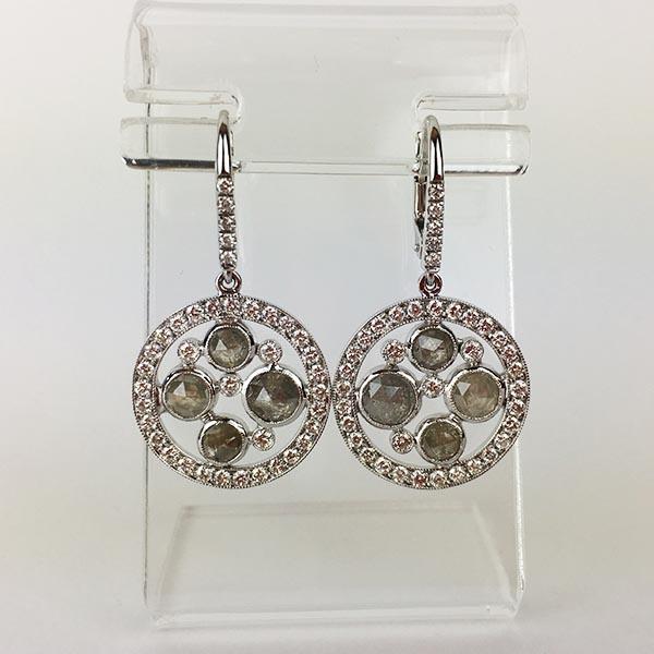 Orecchini Oro Bianco e Diamanti Unico
