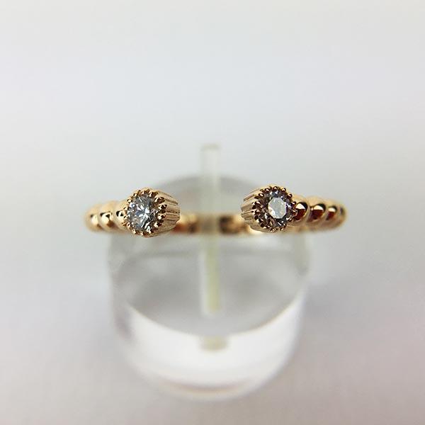 Anello Oro Rosa e Diamanti