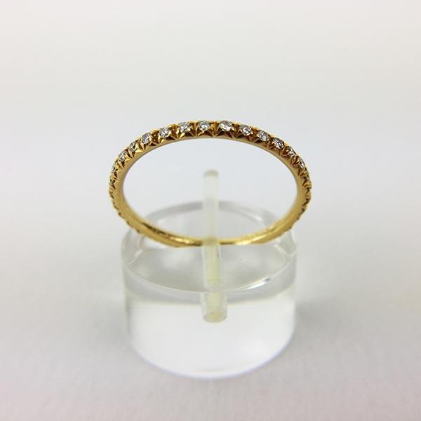 Anello Fedina a Giro Oro Giallo e Diamanti