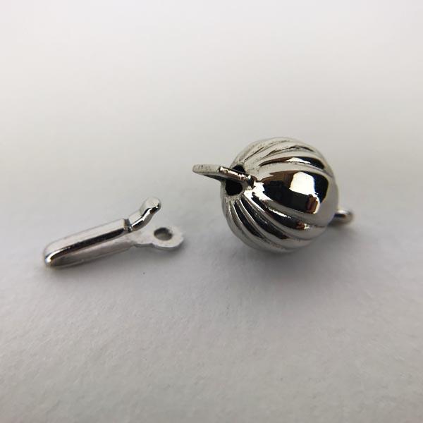 Chiusura per filo Perle Oro Bianco