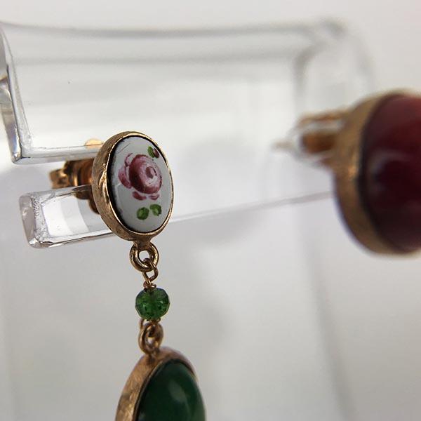 Orecchini Gio Marchiaro Argento, Oro Rosa e Pietre Unico