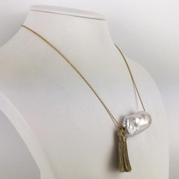 Collana Gio Marchiaro Perla e Oro Giallo