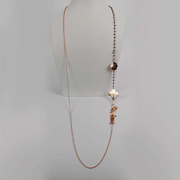 Collana Argento e Oro Rosa Alice